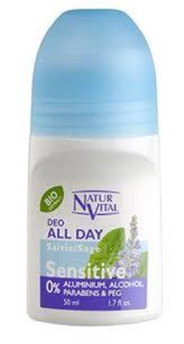 Natur Vital Sensitive Deo Roll-On All Day 50Ml
